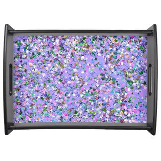 Bandeja Purpurina moderno #6 de la arena del mosaico