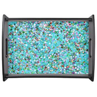 Bandeja Purpurina moderno #7 de la arena del mosaico