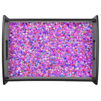 Bandeja Purpurina moderno #8 de la arena del mosaico