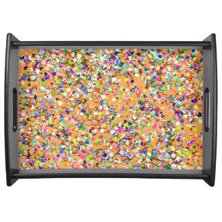 Bandeja Purpurina moderno #9 de la arena del mosaico