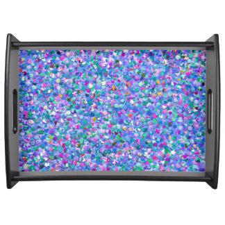 Bandeja Purpurina moderno de la arena del mosaico