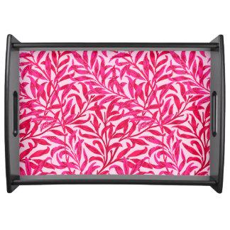 Bandeja Rama del sauce de William Morris, rosa del fucsia