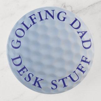 Bandeja redonda de cristal Golfing de la baratija