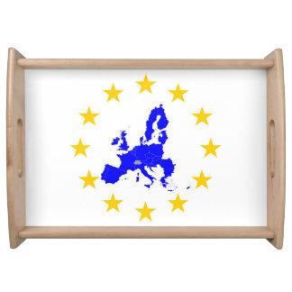 Bandeja Tarjeta de la unión Europea con círculo de