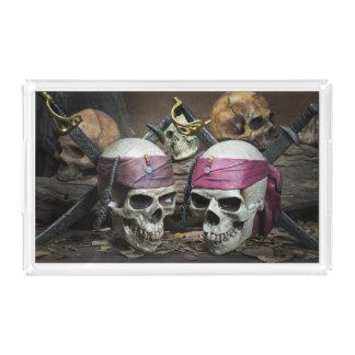 Bandejas de los cráneos del pirata