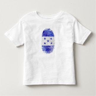 Bandera 100% del Honduran de la huella dactilar de Camiseta De Bebé