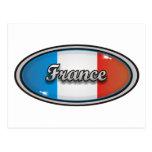 Bandera 1 de Francia Tarjetas Postales