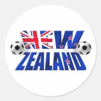 Bandera 2010 del fútbol del logotipo NZ del fútbol Pegatina Redonda