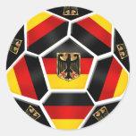 Bandera 2012 del alemán de Alemania el Brasil 2014 Etiqueta Redonda