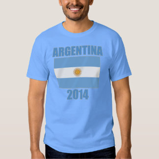 Bandera 2014 de la Argentina Camisetas