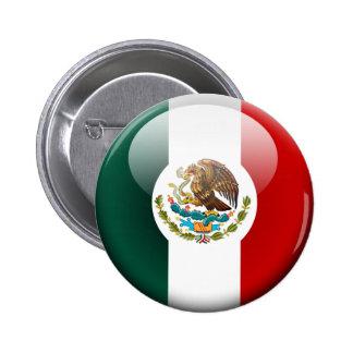 Bandera 2,0 de México Chapa Redonda De 5 Cm