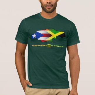 Bandera 2 de Puerto Rico y de Jamaica Camiseta