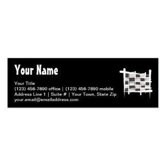 Bandera a cuadros del cepillo que compite con tarjeta personal