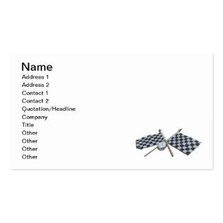 Bandera a cuadros del cronómetro tarjeta personal