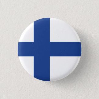 Bandera abstracta de Finlandia, botón finlandés de