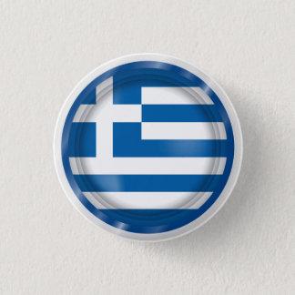 Bandera abstracta de Grecia, botón griego de las