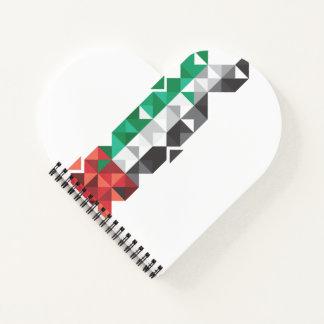 Bandera abstracta de los UAE, cuaderno de United