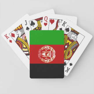 Bandera afgana patriótica baraja de cartas