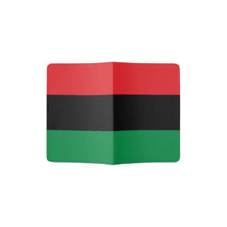 Bandera afroamericana - negro y verde rojos porta pasaportes