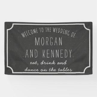 Bandera agradable personalizada del boda de la