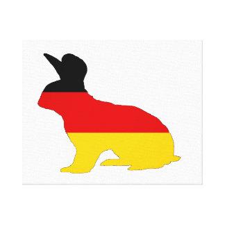 Bandera alemana - conejo impresión en lienzo