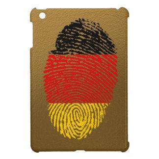 Bandera alemana de la huella dactilar del tacto