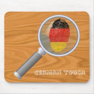 Bandera alemana de la huella dactilar del tacto alfombrilla de ratón