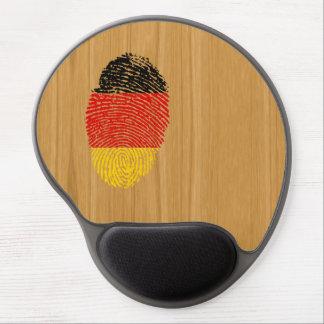Bandera alemana de la huella dactilar del tacto alfombrilla de ratón de gel
