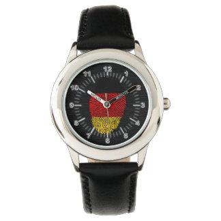 Bandera alemana de la huella dactilar del tacto reloj de pulsera