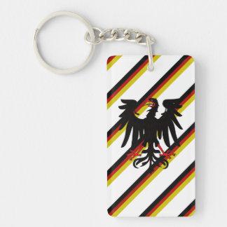 Bandera alemana de las rayas llavero