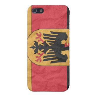 Bandera alemana del escudo de armas iPhone 5 funda