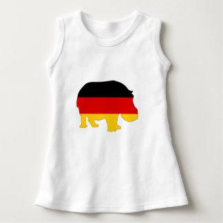 Bandera alemana - hipopótamo vestido