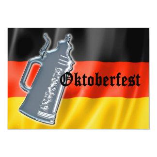 Bandera alemana Oktoberfest de Stein de la cerveza Invitación 12,7 X 17,8 Cm