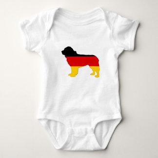 Bandera alemana - perro de Terranova Body Para Bebé