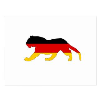 Bandera alemana - tigre postal