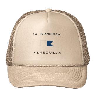 Bandera alfa de la zambullida de Blanquilla Gorras De Camionero
