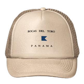 Bandera alfa de la zambullida de Bocas Del Toro Gorras De Camionero