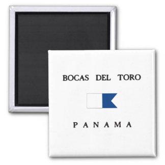 Bandera alfa de la zambullida de Bocas Del Toro Iman De Frigorífico