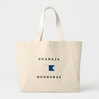 Bandera alfa de la zambullida de Guanaja Honduras Bolsas De Mano