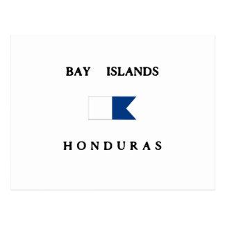 Bandera alfa de la zambullida de Honduras de las i Postal