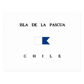 Bandera alfa de la zambullida de Isla de la Pascua Postal