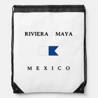 Bandera alfa de la zambullida de México del maya Mochilas