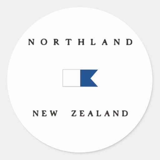 Bandera alfa de la zambullida de Nueva Zelanda de Etiquetas Redondas