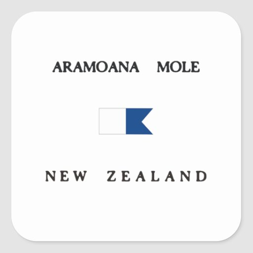 Bandera alfa de la zambullida de Nueva Zelanda del Etiqueta
