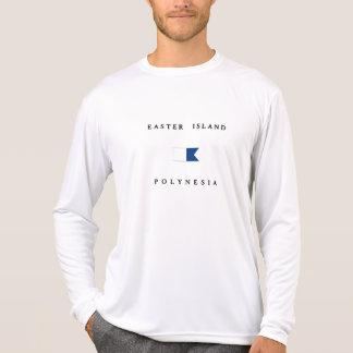 Bandera alfa de la zambullida de Polinesia de la Camiseta