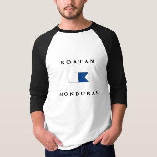 Bandera alfa de la zambullida de Roatan Honduras Camiseta