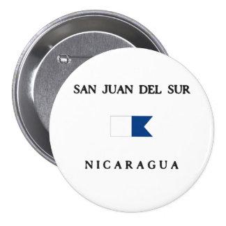 Bandera alfa de la zambullida de San Juan Del Sur Pins