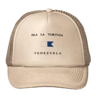 Bandera alfa de la zambullida de Tortuga Venezuela Gorro De Camionero
