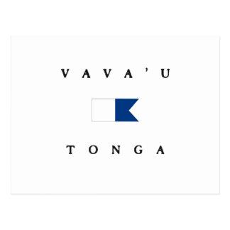Bandera alfa de la zambullida de Vava'u Tonga Postal