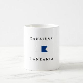 Bandera alfa de la zambullida de Zanzíbar Tanzania Taza De Café